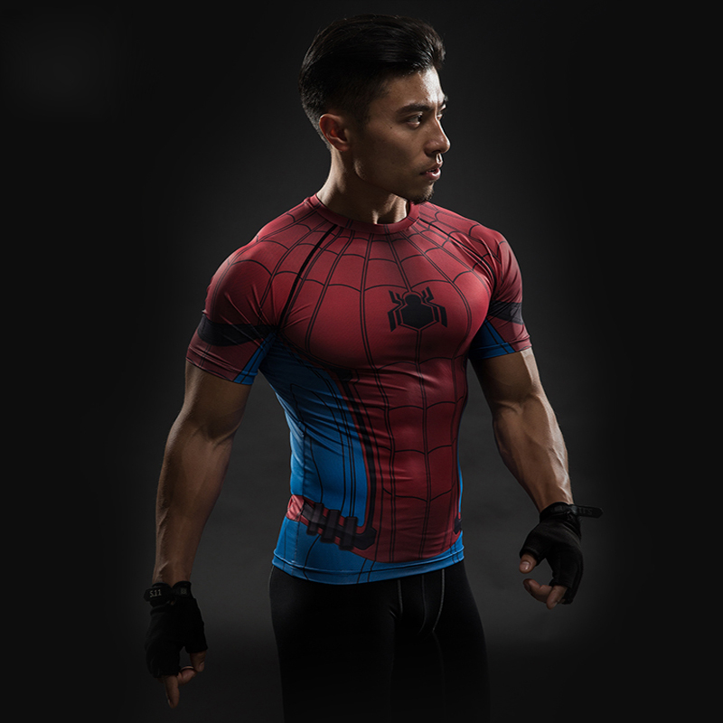 a3d46bb3 Home / Men / Topwear / Sports & Gym / Spiderman Short Sleeve Compression T- Shirt
