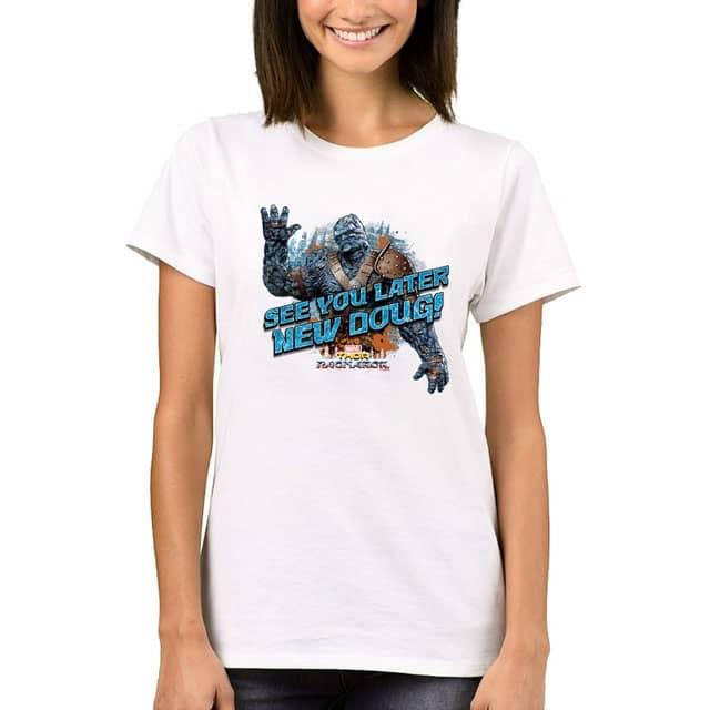 Thor Ragnarok Korg Goodbye New Doug Funny Women S T Shirt Real Infinity War