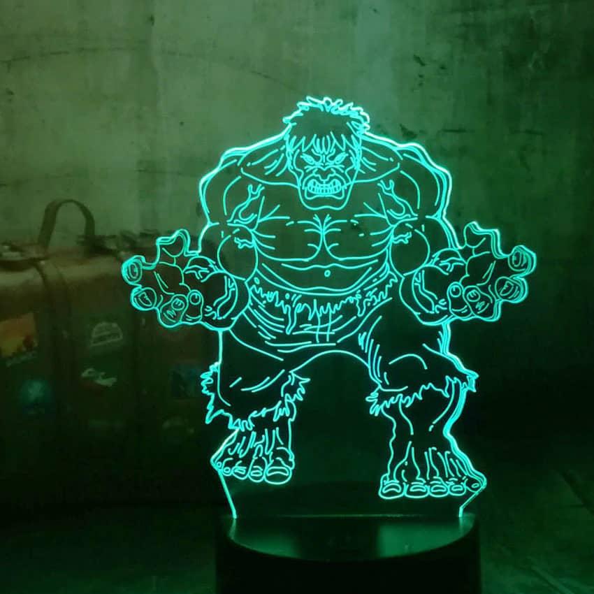 3D Hulk Lamp Holographic LED BrCxodeWQ